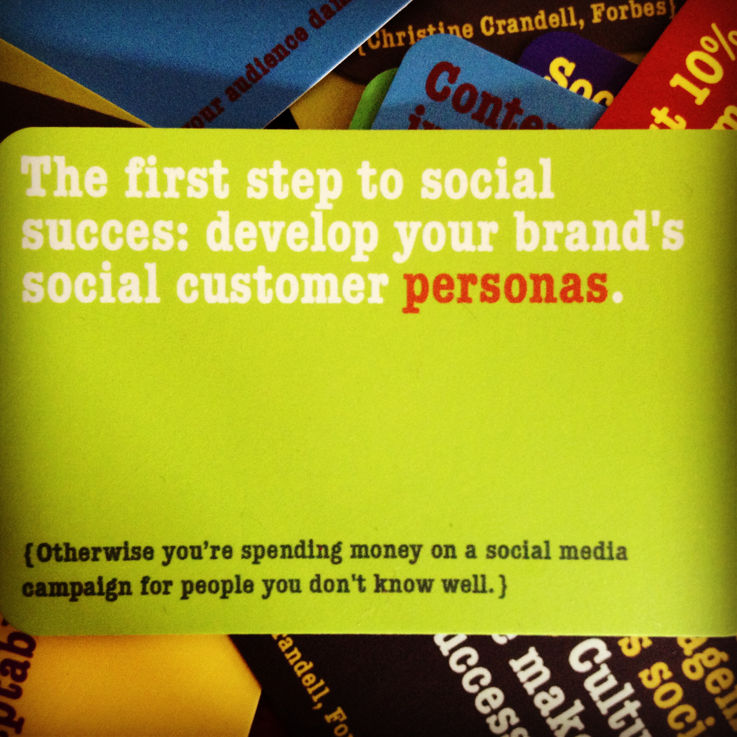 Socbiz insights: on social personas