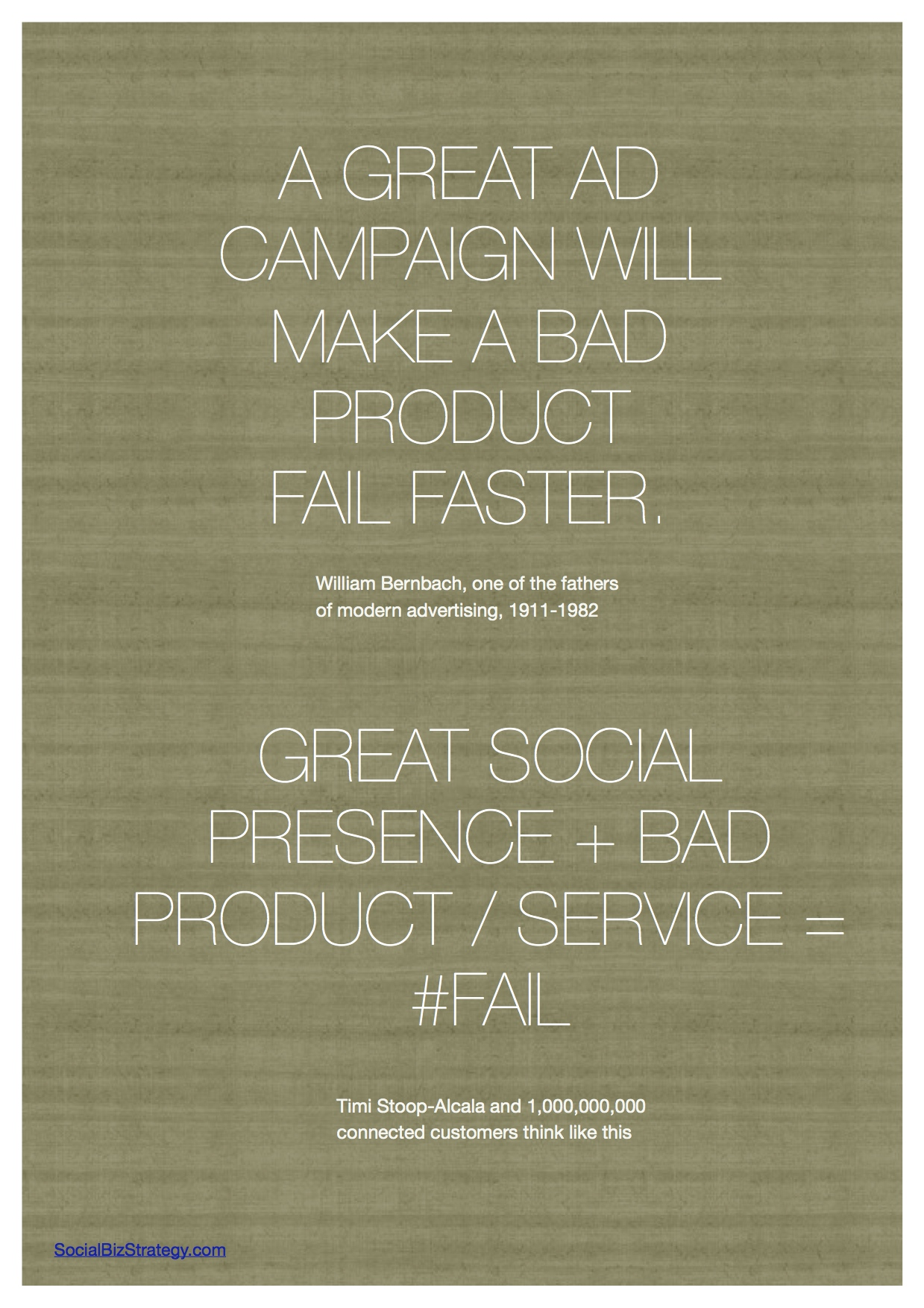 Good social + bad business = #FAIL